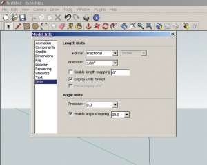 Model Info Window in SketchUp
