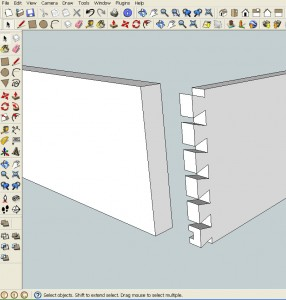 How to copy the geometry of the drawer side to the drawer front