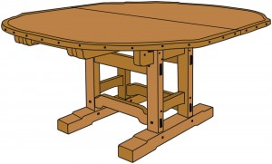 greene greene dining table plans