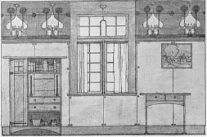 Harvey Ellis Illustration for The Craftsman