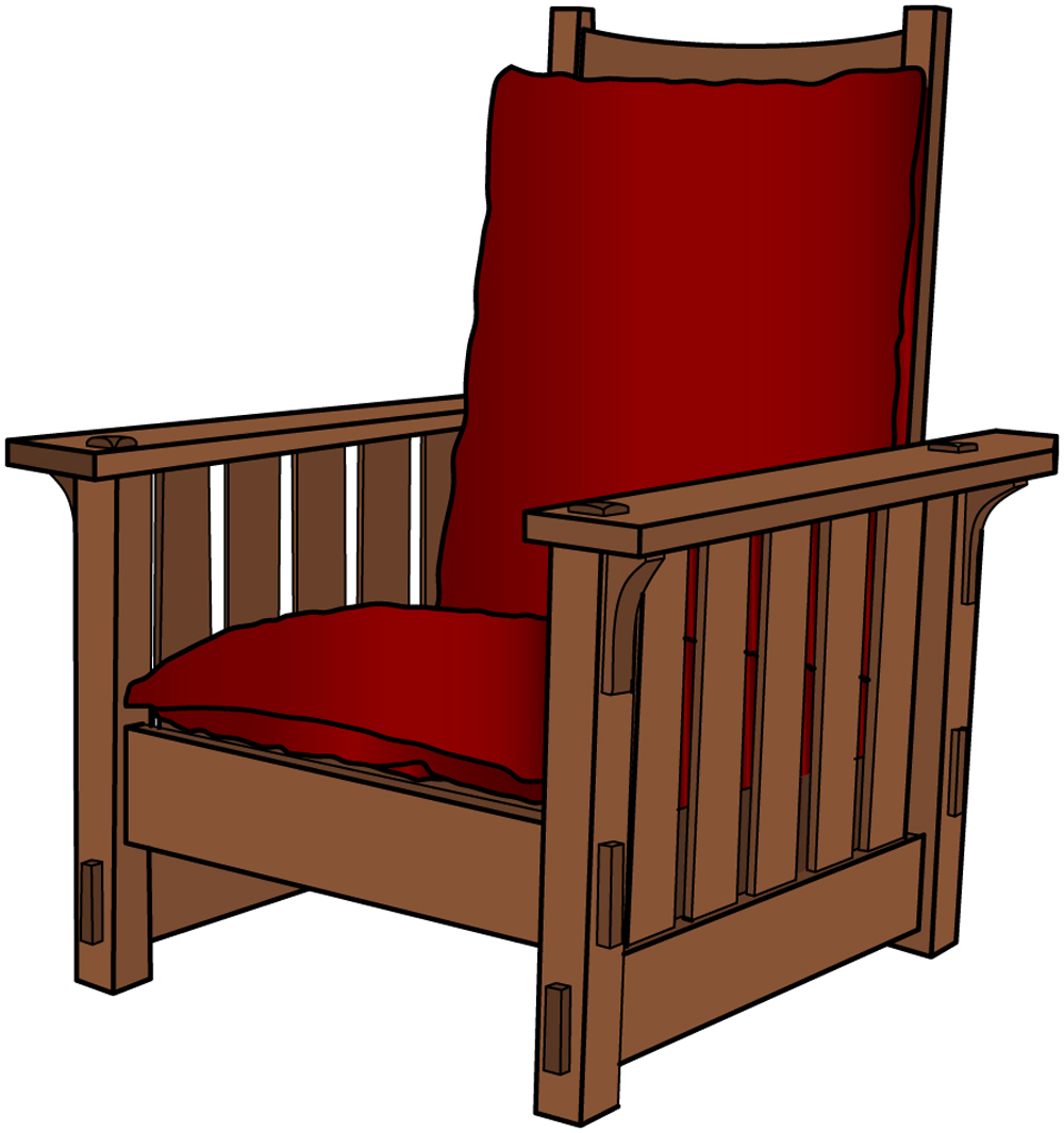 Gustav stickley morris chair plans woodguides for Furniture plans