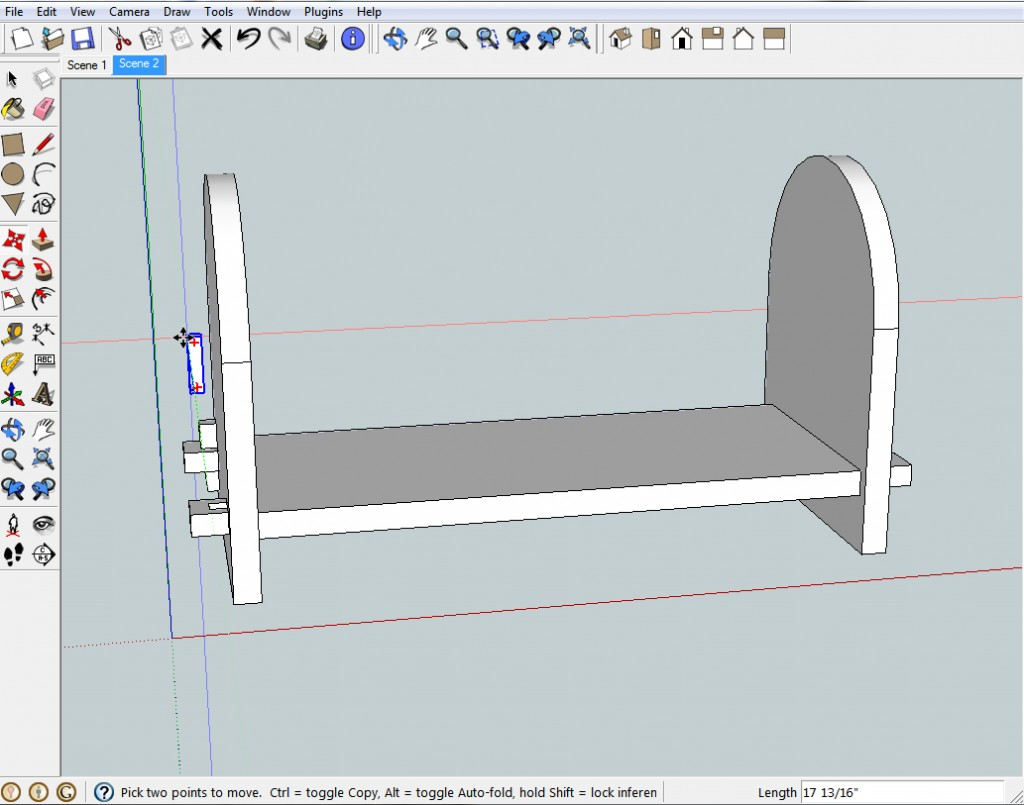Point of view is critical to success in SketchUp