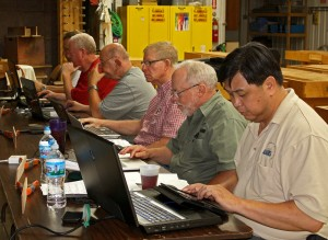 Woodworkers in SketchUp Class at MASW