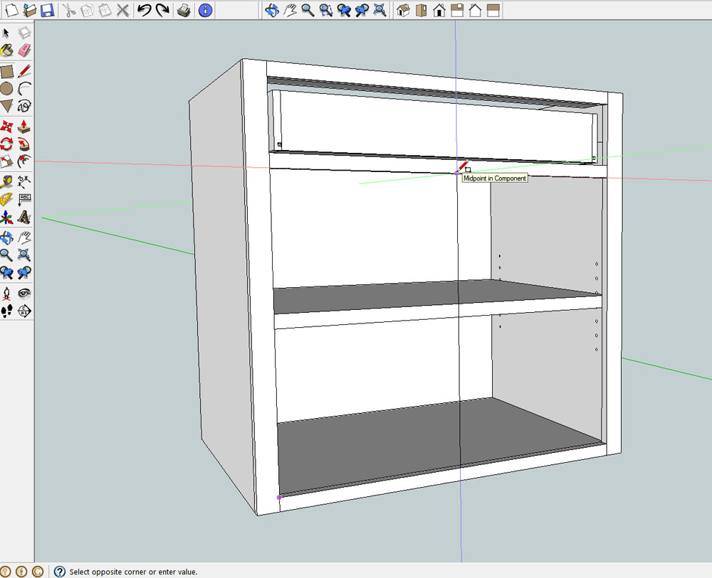 Drawing Cabinets In Sketchup Mf Cabinets