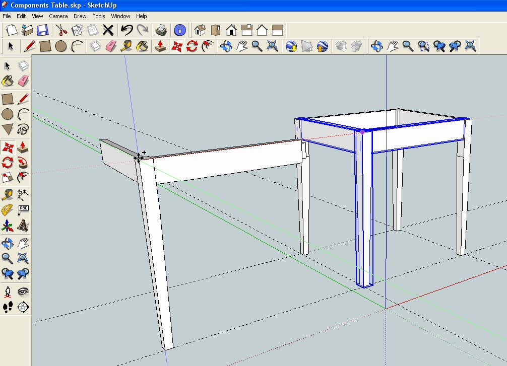 Make a mortise from a tenon with sketchup for Sketchup 2013
