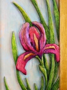 Iris Carving by Robert W. Lang