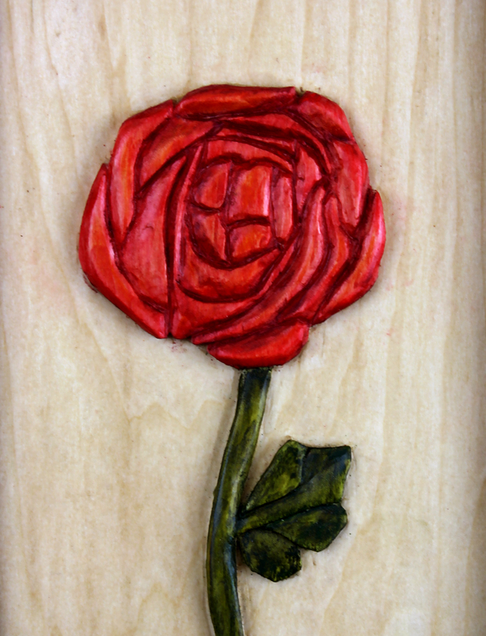 Makcintosh Rose carving Robert W. Lang