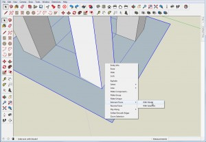 Compound Angles At Floor in SketchUp