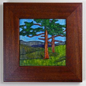 grueby pine carving by Robert W. Lang